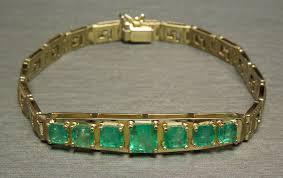 emerald bracelet images Italian greek key link 7tcw square emerald gold emerald bracelet jpg