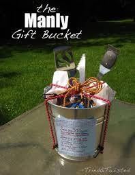 a gift basket is a great item to give women but men prefer manly
