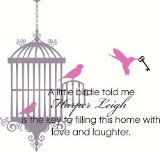 nursery room bird cage wall decal