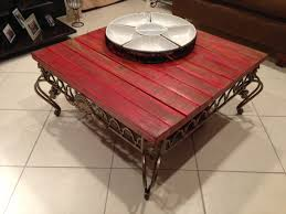 repurpose wood fence boards into a coffee table top shabby chic