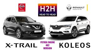 nissan renault car h2h 96 renault koleos vs nissan x trail youtube