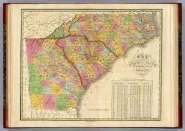 Map Of N Carolina Map Of North And South Carolina And Georgia David Rumsey