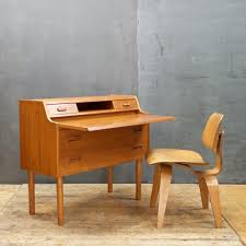 Danish Modern Teak Desk by Cabin Modern Attic
