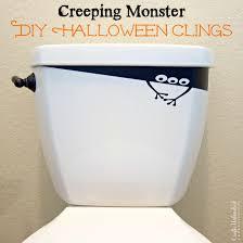 halloween decorations diy creeping monster vinyl clings