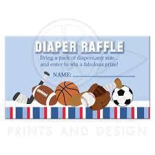 all stars sports boy baby shower diaper raffle ticket