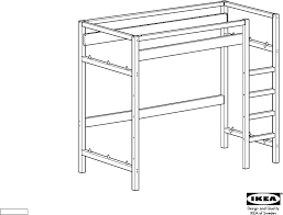 Ikea Bunk Bed Frame Ikea Tovik Loft Bunk Bed Frame Assembly For