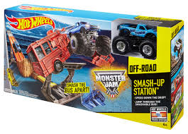 wheels monster jam smash up station track set shop