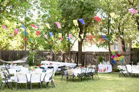 backyard birthday party ideas christmas lights decoration