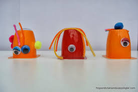 yogurt cup monsters fun halloween craft art for kids fspdt