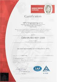 Quality Certification Letter quality and the environment hpv engineering s r o