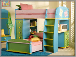 furniture captivating and colorful girls bunk bed with study table