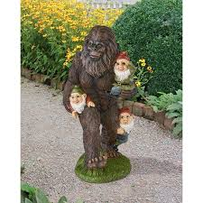 design toscano schlepping the garden gnomes bigfoot statue