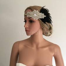 great gatsby hair accessories vintage woman flapper feather headband 1920s great gatsby