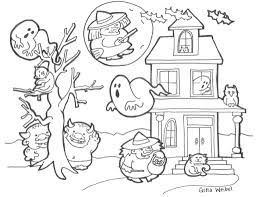 cute halloween coloring pages for kids archives at cute halloween