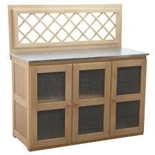 meuble cuisine zinc meuble cuisine d extérieur en bois zinc 3 portes achat vente