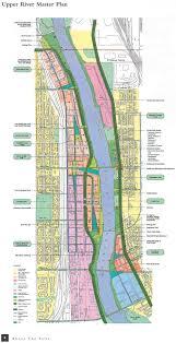 Map Of Minneapolis Upper River Master Plan Illustration City Of Minneapolis