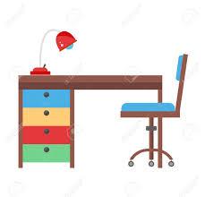 Kid School Desk School Kid Studying Home Desk Doing Homework Workplace
