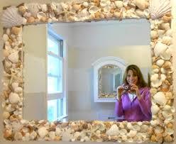 Coastal Bathroom Mirrors by Top Diy Seashell Mirror Ideas Completely Coastal