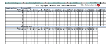 9 employee vacation tracker templates excel templates