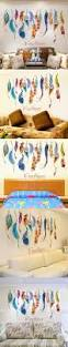 feather home decor removable diy feather sticker dreamcatcher colorful plumage