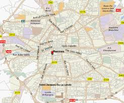 rennes map rennes map