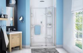 swing shower screen for alcoves reveal maax bathroom