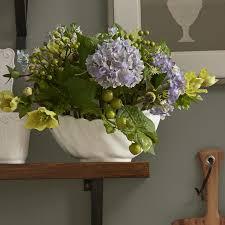 hydrangea centerpiece three posts hydrangea centerpiece in bowl reviews wayfair