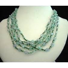 multi bead necklace images Necklaces acryling and glass bead multi strands necklace wow jpg