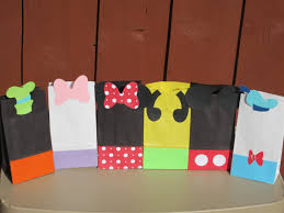 mickey mouse favor bags mickey mouse clubhouse favor treat bags set of 12 mickey