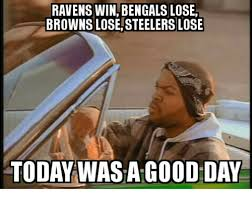 Steelers Vs Ravens Meme - ravens win bengals lose browns lose steelers lose today was a good