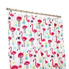 Flamingo Shower Curtains Amazon Com Affluence Home Fashions Fancy Flamingo Shower Curtain