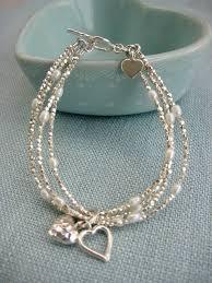 multi bracelet images Silver heart multi strand bracelet by kathy jobson jpg