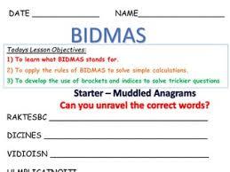 bidmas ks3 year 7 8 by alex meadows4 teaching resources tes