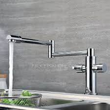 kitchen pot filler faucets high end copper rotatable folding kitchen pot filler faucets moen