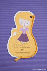 rapunzel tangled inspired party invitations