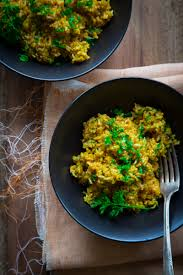 simple saffron brown rice vegan and gluten free healthy