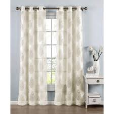 window elements sheer penelope cotton blend burnout sheer 84 in l