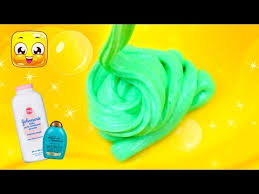 how to make slime with baby powder and shampoo without glue diy