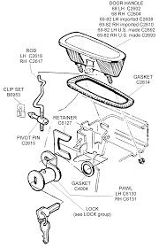 corvette supply door handle assembly diagram view chicago corvette supply