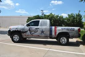 american flag truck troops toyota truck fleet car wrap city