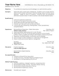 resume exles objective for any position trigger warehouse supervisor job description for resume therpgmovie