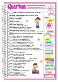 wh question words esl pinterest wh questions worksheets and