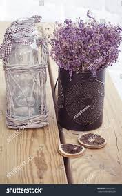 rustic home decor provence style lavender stock photo 223165201