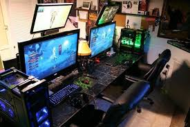 Computer Desk Work Station Amazing Gaming Computer Desk Ideas Workstation Setup Pinterest In