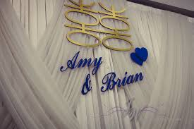 wedding backdrop name joyce wedding service and brian s wedding on may 17 2014 at