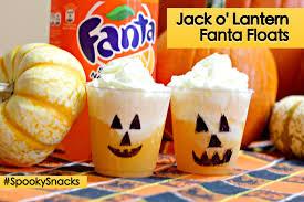 halloween snacks jack o lantern floats saving you dinero