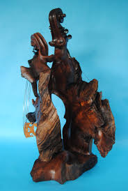 bruce menne flamboyant violin wood sculpture