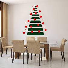 wall christmas tree diy geometric christmas tree wall decal