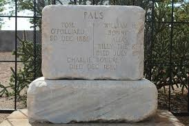 grave tombstone why billy the kid s tombstone says pals mental floss