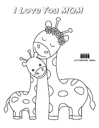happy mother u0027s day u2013 i love you mom giraffes printables baby